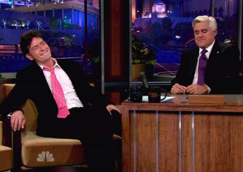 Charlie Sheen Spills to Leno About His New Life